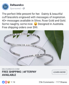 Facebook Ad copy story telling