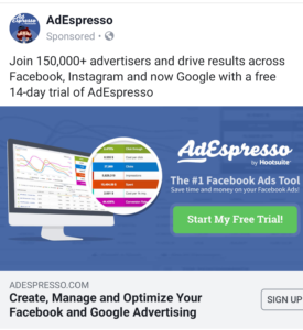 Facebook Ads social proof