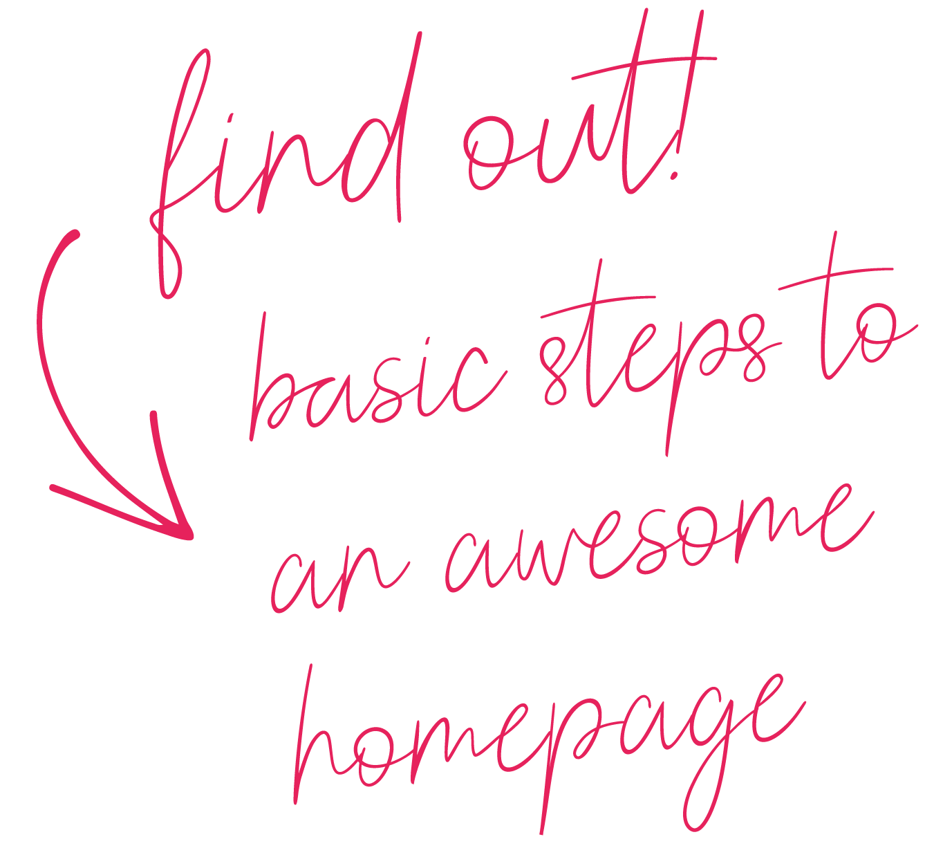 Basic Steps to an awesome homepage